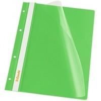 Скоросшиватель пластиковый А-4 зелёный (Esselte)..