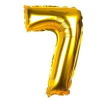 Шар фольгированный №7 (золотой 40 см)