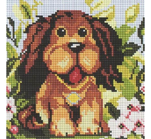Алмазная мозаика BF667 Добрый щенок 20X20