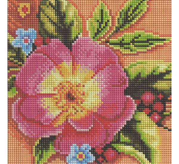 Алмазная мозаика  BF205 Красный цветок 20X20