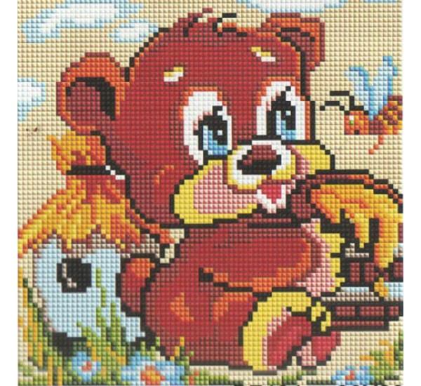 Алмазная мозаика BF404 Братец медвежонок 20X20