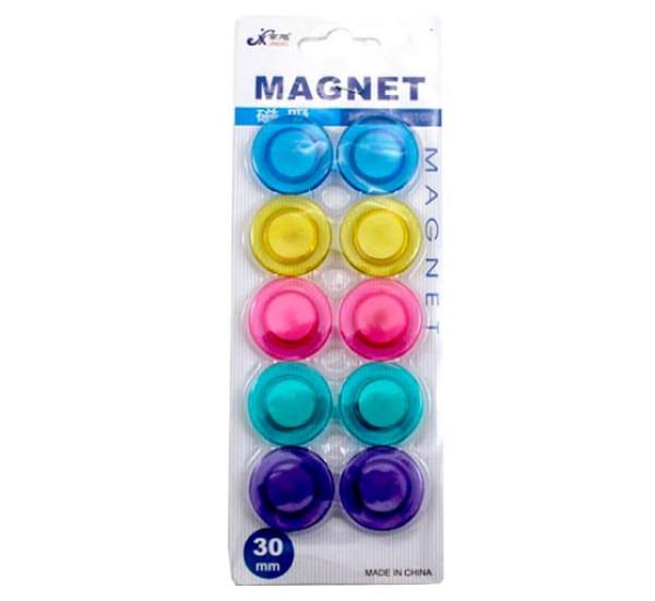 Набор магнитов для доски прозрачные 30 мм 3010
