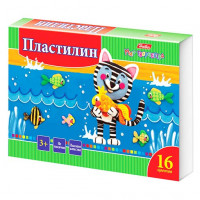 """Пластилин (16 цв) """"Hatber"""""""