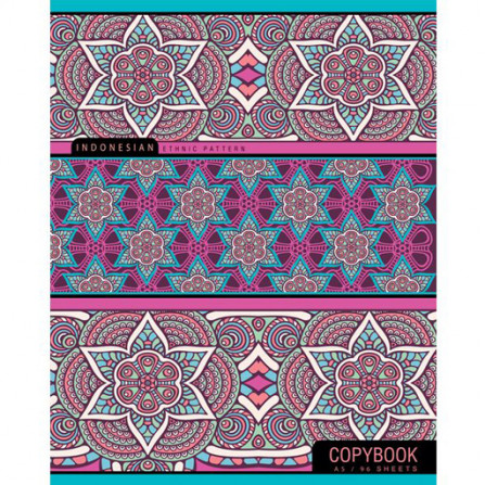 Тетрадь 96 л клетка Ethnic pattern (Hatber)