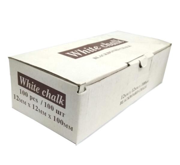 Мелки белые (White сhalk) 12mm*12mm*100mm