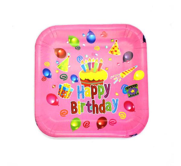 Тарелки картонные 10 шт Happy Birthday
