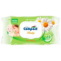 """Салфетки """"Compact"""" Детские с  ромашкой 1188"""