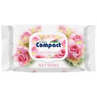 "Салфетки ""Compact"" романтическая роза (100шт) 5520"