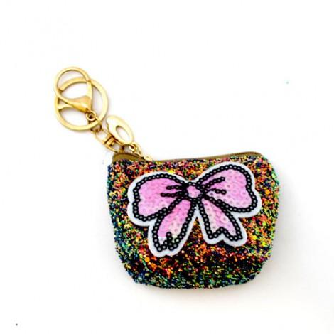Кошелек брелок с пайетками бабочка