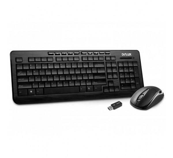 Клавиатура бесппроводная Delux K3100 + Мышь M105 Wireles (Combo)