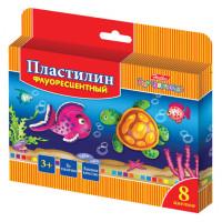 """Пластилин Флуоресцентный (8 цв) """"Hatber"""""""
