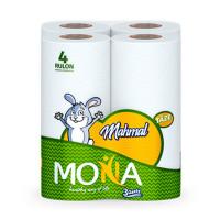 """Бумажное полотенце """"Mona"""" ( 3 слоя 4 шт)"""