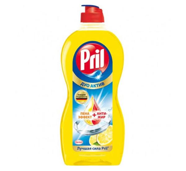 "Средство для мытья посуды ""PRIL"" ДуоАктив, Лимон (450мл)"
