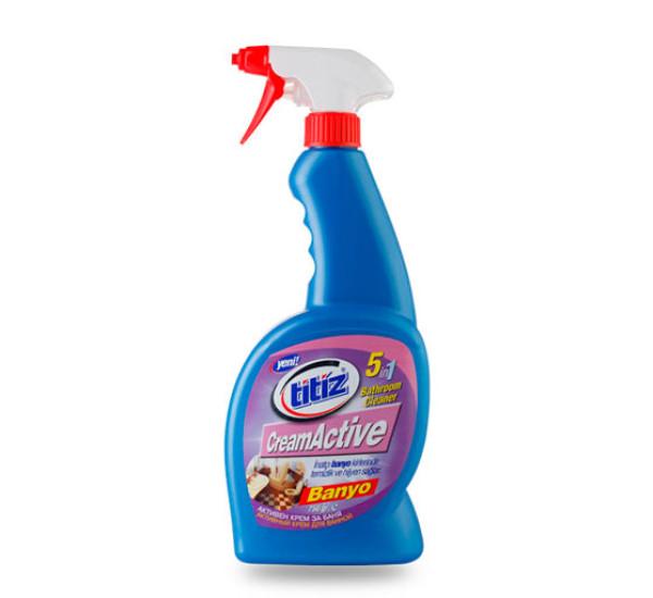 """Спрей для чистки ванны """"Titiz""""Cream Active 750 ml 5 в 1 9460"""