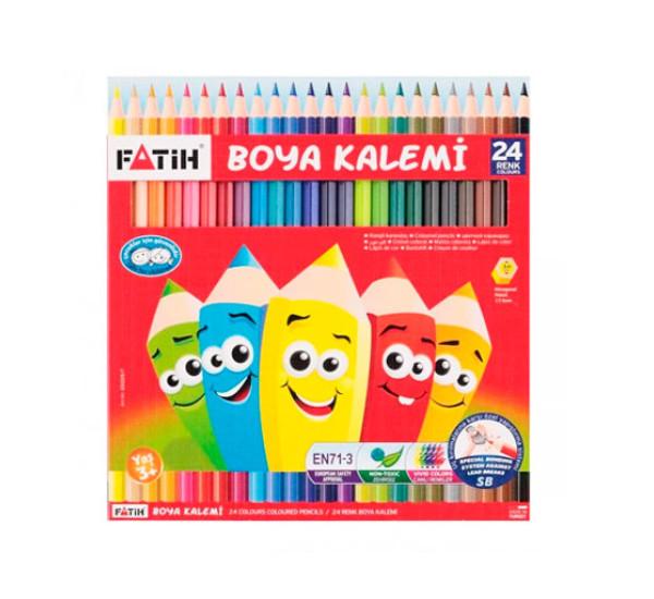 """Набор карандашей """"Fatih"""" 24 цветов в картонной коробке"""