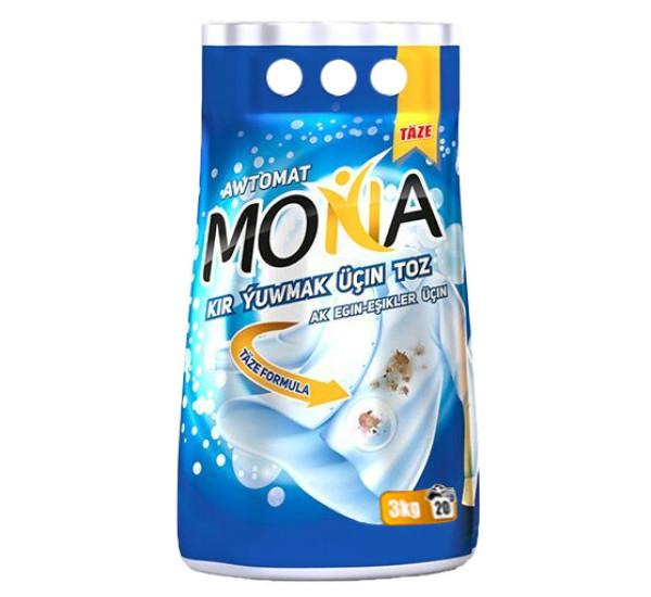 """Стиральный порошок """"Mona"""" автомат для белого (3 кг)  0693"""