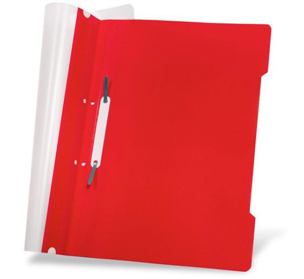Скоросшиватель пластиковый А-4 красный (Турция)