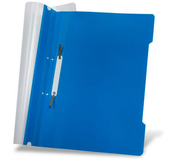Скоросшиватель пластиковый А-4 синий (Турция)