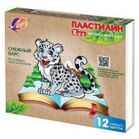 """Пластилин """"Луч"""" Zoo  (12 цв)"""