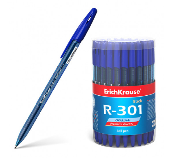 """Ручка шариковая """"ErichKrause"""" R-301 Original Stick (0.7 цвет чернил синий)"""