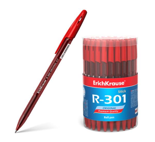 """Ручка шариковая """"ErichKrause"""" R-301 Original Stick (0.7 цвет чернил красный)"""
