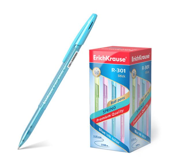 """Ручка шариковая """"ErichKrause"""" R-301 Spring Stick (0.7 цвет чернил синий)"""