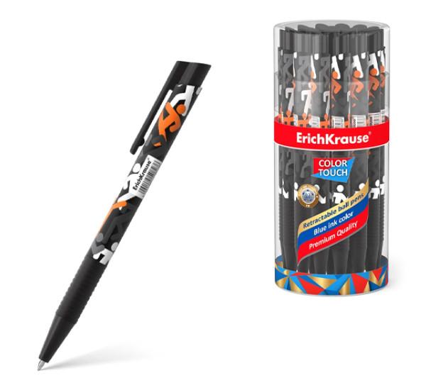 """Ручка шариковая автоматическая """"ErichKrause"""" ColorTouch Walkers (цвет чернил синий)"""