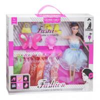 Набор для девочек Кукла с гардеробом YXT27