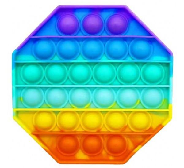 Pop it восьмиугольный, цветной 1235