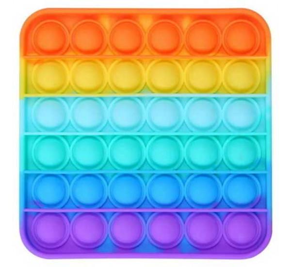 Pop it квадратный, цветной 1235