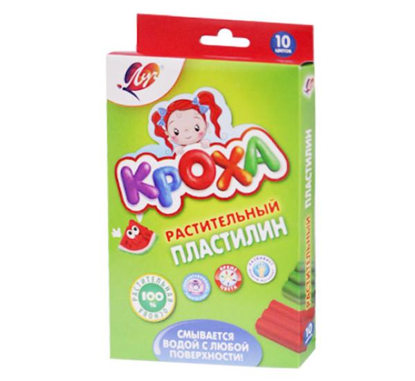 """Пластилин растительный """"Луч"""" Кроха (10 цв)"""
