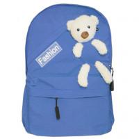 Рюкзак школьный с мишкой синий 620