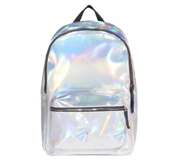 Рюкзак маленький Hologram silver