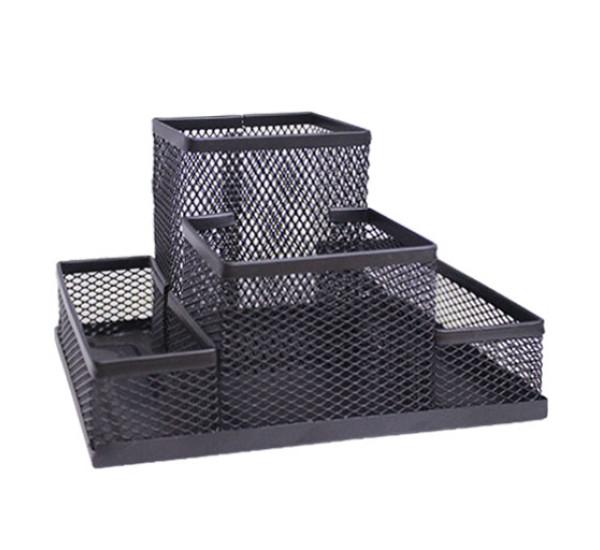 Органайзер металлический (черный 4 отд)