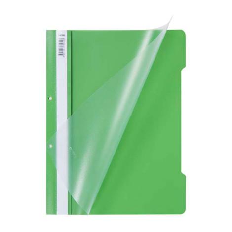 Скоросшиватель пластиковый А-4 ярко-зелёный (Турция)