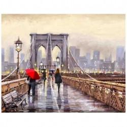 Картина по номерам 40х50 Бруклинский мост GX8604..