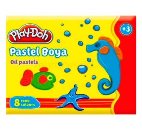 Восковые мелки масленные 8 цв (Play-Doh)