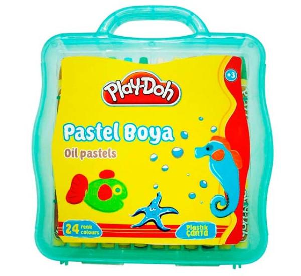 Восковые мелки в пластиковой упаковке24 цв (Play-Doh)